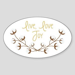 Live Love Joy Sticker