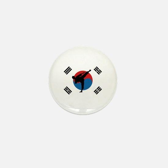Taekwondo Flag Mini Button