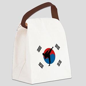 Taekwondo Flag Canvas Lunch Bag