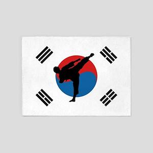 Taekwondo Flag 5'x7'Area Rug