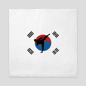 Taekwondo Flag Queen Duvet
