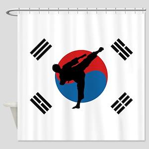 Taekwondo Flag Shower Curtain