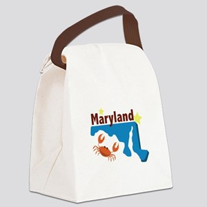State Of Maryland Canvas Lunch Bag