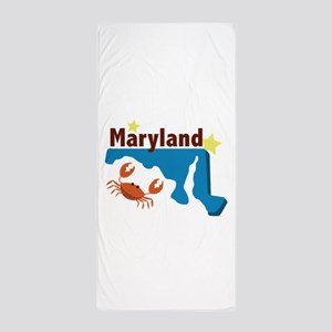 State Of Maryland Beach Towel