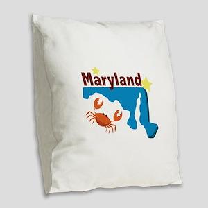 State Of Maryland Burlap Throw Pillow