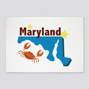 State Of Maryland 5'x7'Area Rug