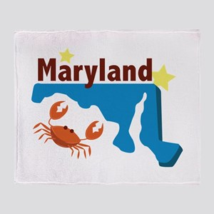 State Of Maryland Throw Blanket