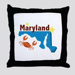State Of Maryland Throw Pillow