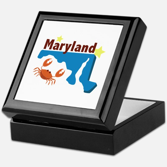 State Of Maryland Keepsake Box