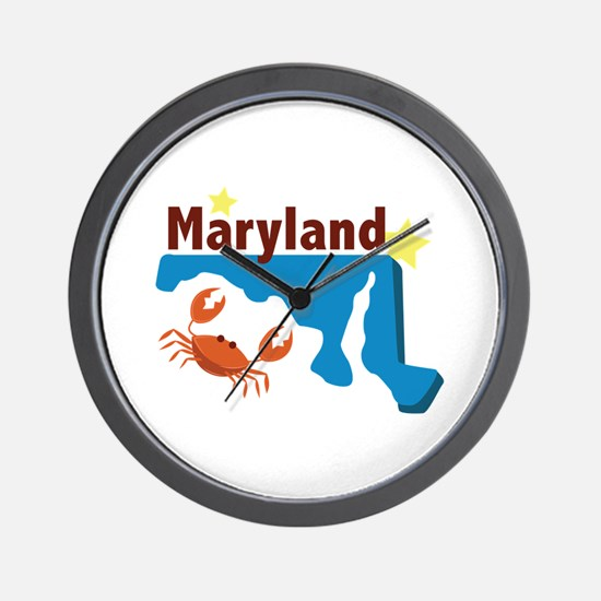 State Of Maryland Wall Clock