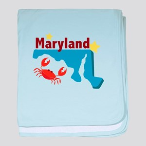 State Of Maryland baby blanket