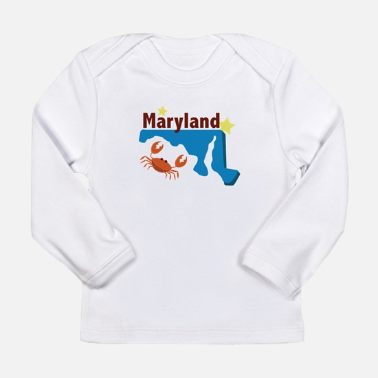 State Of Maryland Long Sleeve T-Shirt