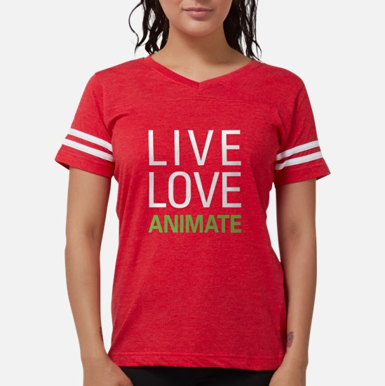 Live Love Animate Women's Dark T-Shirt