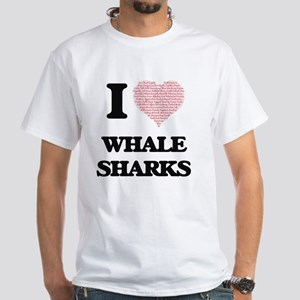 I love Whale Sharks (Heart Made from Words T-Shirt