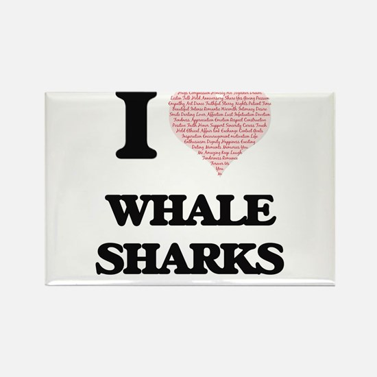 I love Whale Sharks (Heart Made from Words Magnets