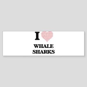 I love Whale Sharks (Heart Made fro Bumper Sticker