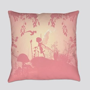 Wonderful fairy silhouette Everyday Pillow