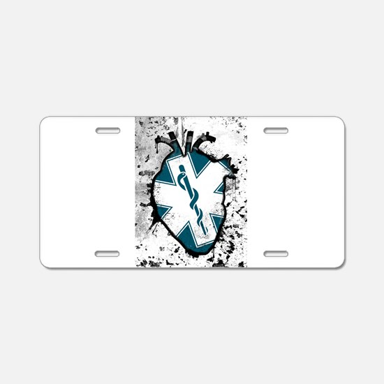 star of life anatomical heart Aluminum License Pla