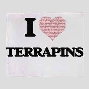 I love Terrapins (Heart Made from Wo Throw Blanket