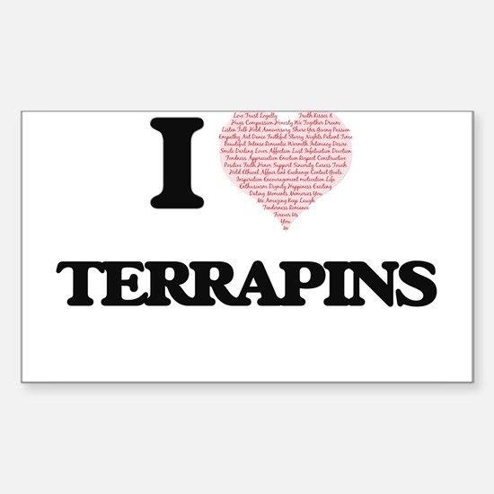 I love Terrapins (Heart Made from Words) Decal