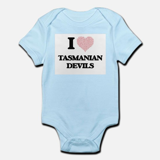 I love Tasmanian Devils (Heart Made from Body Suit