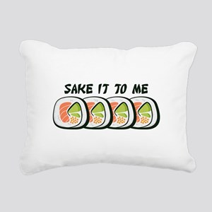 Sake It To Me Rectangular Canvas Pillow