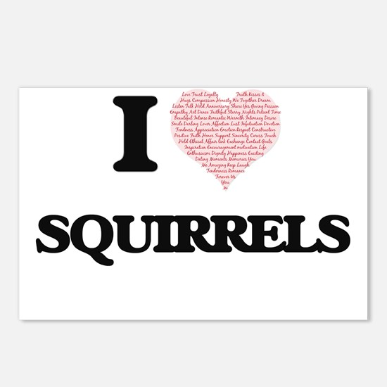 I love Squirrels (Heart M Postcards (Package of 8)