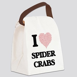 I love Spider Crabs (Heart Made f Canvas Lunch Bag