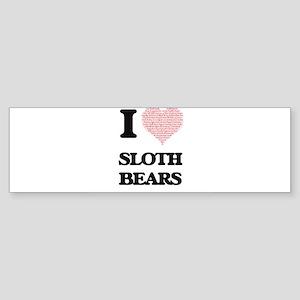 I love Sloth Bears (Heart Made from Bumper Sticker
