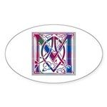 Monogram - MacDonald of Glenaladale Sticker (Oval