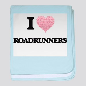 I love Roadrunners (Heart Made from W baby blanket