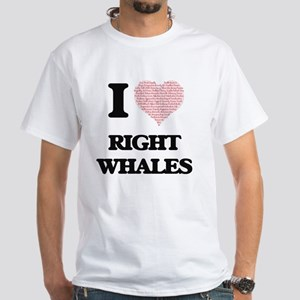 I love Right Whales (Heart Made from Words T-Shirt