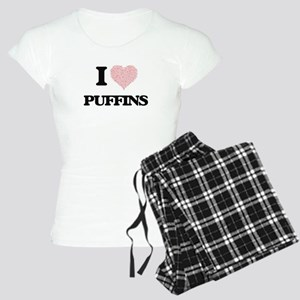 I love Puffins (Heart Made Women's Light Pajamas