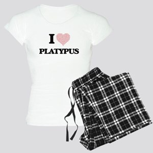 I love Platypus (Heart Made Women's Light Pajamas