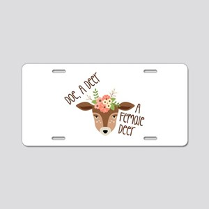 Doe A Deer Aluminum License Plate