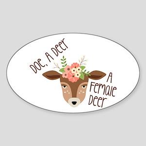 Doe A Deer Sticker