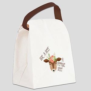 Doe A Deer Canvas Lunch Bag
