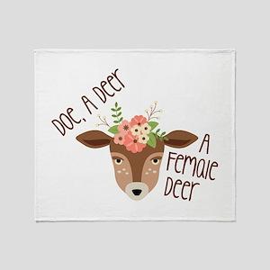 Doe A Deer Throw Blanket