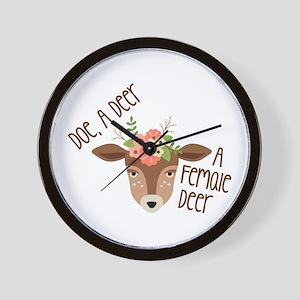 Doe A Deer Wall Clock