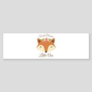 Sweet Dreams Fox Bumper Sticker