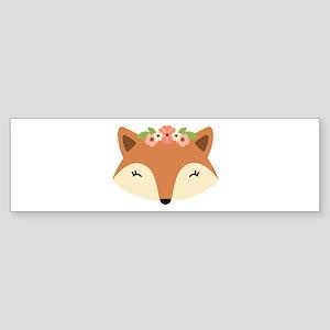 Fox Head Bumper Sticker