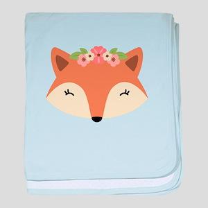 Fox Head baby blanket