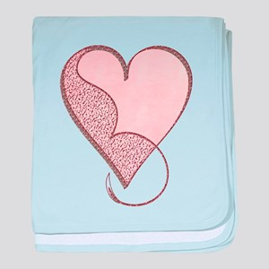 Love Glitter Heart baby blanket