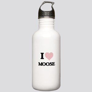 I love Moose (Heart Ma Stainless Water Bottle 1.0L