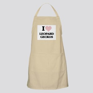 I love Leopard Geckos (Heart Made from Words Apron