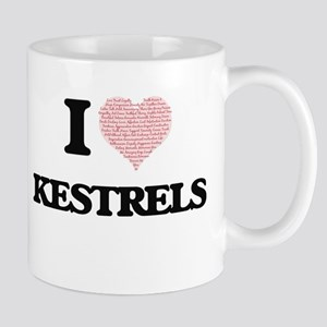 I love Kestrels (Heart Made from Words) Mugs