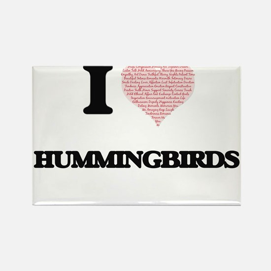 I love Hummingbirds (Heart Made from Words Magnets