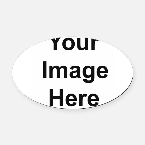 Personalizable Oval Car Magnet