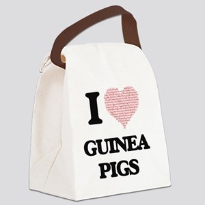 I love Guinea Pigs (Heart Made fr Canvas Lunch Bag