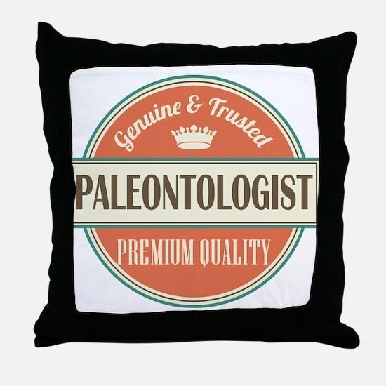 paleontologist vintage logo Throw Pillow